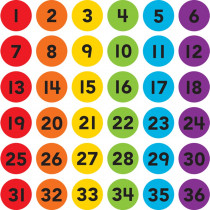 """Spot On Numbers 1-36 Carpet Markers, 4 - TCR77005 