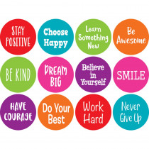 """Spot On Positive Sayings Carpet Markers, 4 - TCR77006 