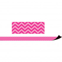 TCR77126 - Magnetic Borders Hot Pink Chevron in Border/trimmer