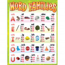 TCR7715 - Word Families Chart in Language Arts