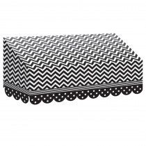 TCR77164 - Black & White Chevrons And Dots Awning in Banners