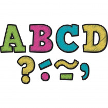 TCR77212 - Chalkboard Brights Bold Block 3In Magnetic Letters in Letters