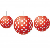 TCR77227 - Red Polka Dots Paper Lanterns in Art & Craft Kits