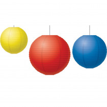 TCR77230 - Red Yellow & Blue Paper Lanterns in Art & Craft Kits