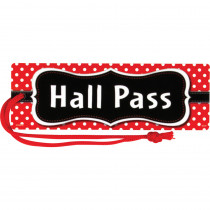 TCR77238 - Red Polka Dots Magnetic Hall Pass in Hall Passes
