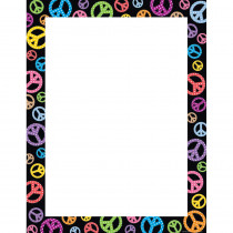TCR7723 - Peace Signs Blank Chart in Classroom Theme