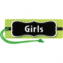 TCR77240 - Lime Polka Dots Magnetic Girls Pass in Hall Passes