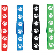TCR77251 - Paw Prints Magnetic Clothespins in Clips