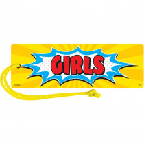 TCR77274 - Superhero Magnetic Girls Pass in Hall Passes