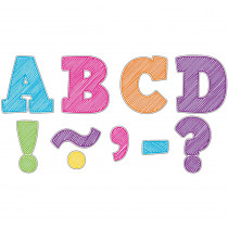 TCR77292 - Scribble Bold Block 3 Magnetic Letters in Letters