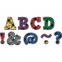 TCR77297 - Plaid Bold Block 2In Magnetic Letters in Letters