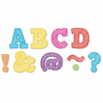 TCR77301 - Scribble Bold Block 2In Magnetic Letters in Letters