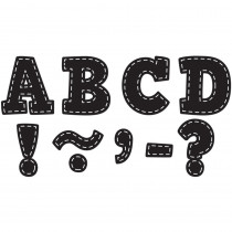 TCR77309 - Black Stitch Bold Block 3 Magnetic Letters in Letters