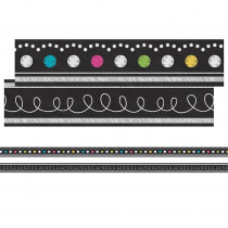 TCR77312 - Chalkboard Brights Ribbon Runner in Border/trimmer