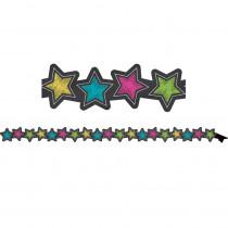 TCR77313 - Chalkboard Brights Stars Mag Border in Border/trimmer