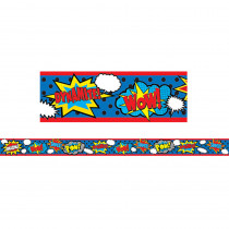 TCR77334 - Clingy Thingies Superhero Strips in Border/trimmer