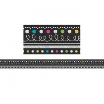 TCR77339 - Border Chalkboard Brights Clingy Thingies in Border/trimmer