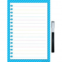 TCR77347 - Aqua Stripes Small Note Sheet Clingy Thingies in Note Books & Pads