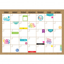 TCR77350 - Clingy Thingies Calendar Set Burlap in Calendars