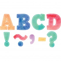 TCR77360 - Bold Block 3In Magnetic Letters Watercolor in Letters