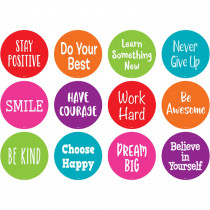 """Spot On Positive Sayings Floor Markers, 4 - TCR77509 