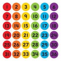 """Spot On Numbers 1-36 Floor Markers, 4 - TCR77512 