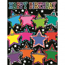 TCR7754 - Fancy Stars Happy Birthday Chart in Classroom Theme