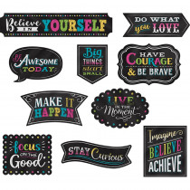 TCR77881 - Positive Sayings Accents Chalkboard Brights Clingy Thingies in Accents