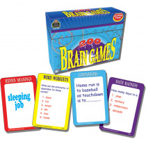 TCR7809 - 200 Brain Games Game in Language Arts