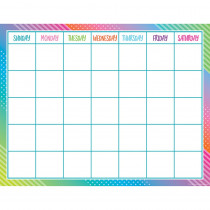 TCR7942 - Colorful Vibes Calendar Chart in Classroom Theme