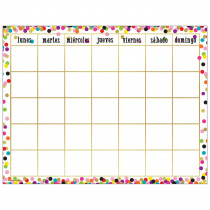 Confetti Spanish Calendar Chart - TCR7949 | Teacher Created Resources | Calendars
