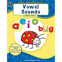 TCR8066 - Early Language Skills Vowel Sounds Gr Pk-K in Vocabulary Skills