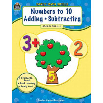 TCR8105 - Early Math Skills Numbers To 10 Adding Subtracting Gr Pk-K in Math
