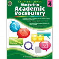 TCR8134 - Know The Lingo Gr 4 Mastering Academic Vocabulary in Vocabulary Skills