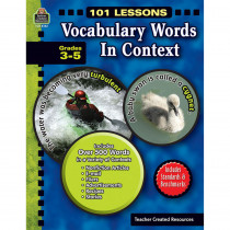 TCR8142 - 101 Lessons Vocabulary Words In Context Gr 3-5 in Vocabulary Skills