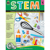 TCR8181 - Stem Using Everyday Materials Gr 1 Engaging Hands-On Challenges in Activity Books & Kits