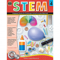 TCR8184 - Stem Using Everyday Materials Gr 4 Engaging Hands-On Challenges in Activity Books & Kits