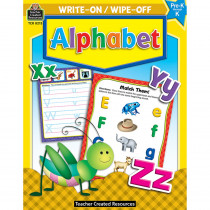 TCR8213 - Write-On/Wipe-Off Alphabet in Letter Recognition