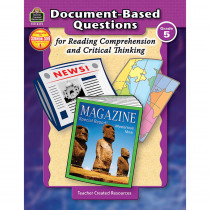 TCR8375 - Gr 5 Document-Based Questions For Read Comprehen & Critical Thinking in Books