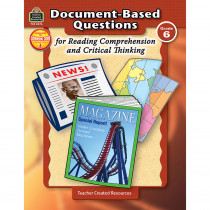 TCR8376 - Gr 6 Document-Based Questions For Read Comprehen & Critical Thinking in Books