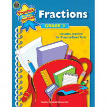 TCR8601 - Fractions Gr 3 Practice Makes Perfect in Fractions & Decimals