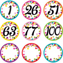 TCR8752 - Colorful Vibes Number Cards in Accessories
