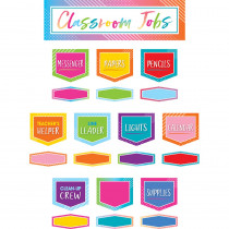 TCR8756 - Classroom Jobs Mini Bb St Colorful Vibes in Classroom Theme