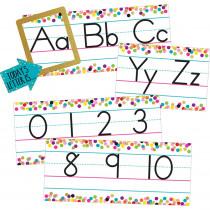 TCR8804 - Confetti Alphabet Line Bulletin Brd in Classroom Theme