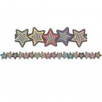 TCR8813 - Stars Die-Cut Border Trim Home Sweet Classroom in Border/trimmer
