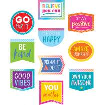 TCR8825 - Positive Sayings Accents Colorful Vibes in Accents