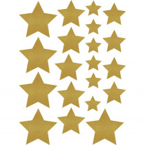TCR8868 - Gold Shimmer Stars Accents Assorted Sizes in Accents
