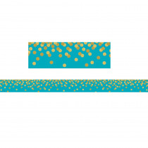 TCR8869 - Teal Confetti Straight Border Trim in Border/trimmer