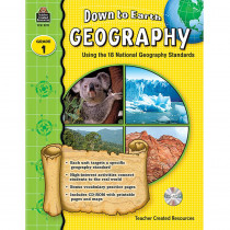 TCR9271 - Down To Earth Geography Gr 1 Book W/Cd in Social Studies