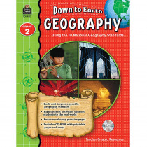 TCR9272 - Down To Earth Geography Gr 2 Book W/Cd in Social Studies
